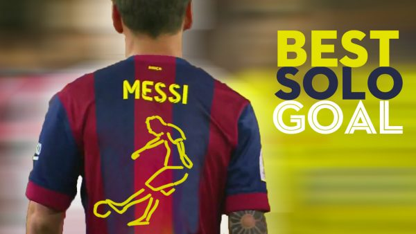 Best solo goal by Messi animation