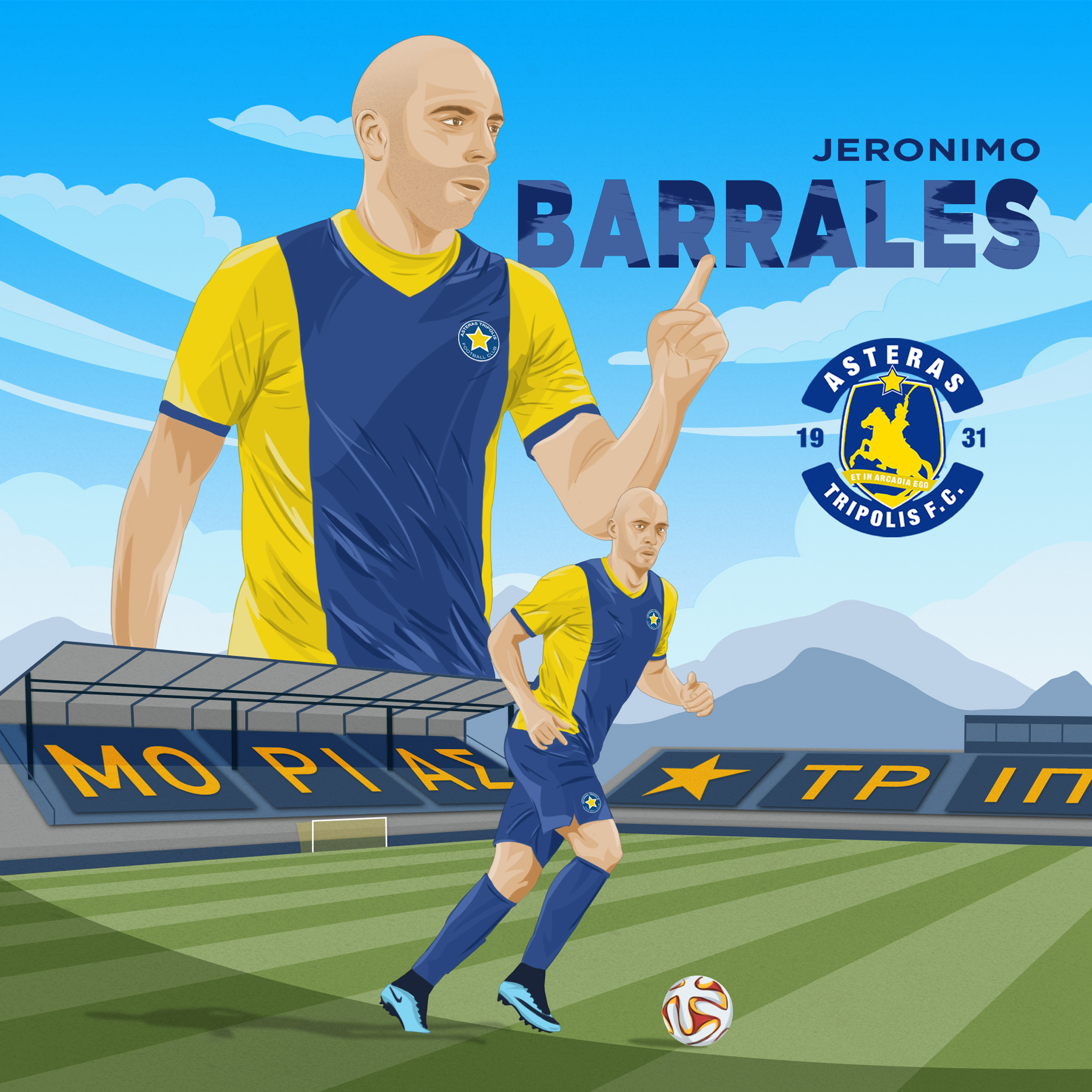 Jeronimo Barrales - Asteras Tripolis F.C. - Smado Animation